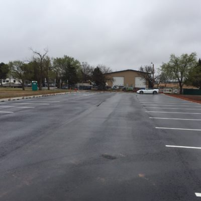 New parking lot completed!
