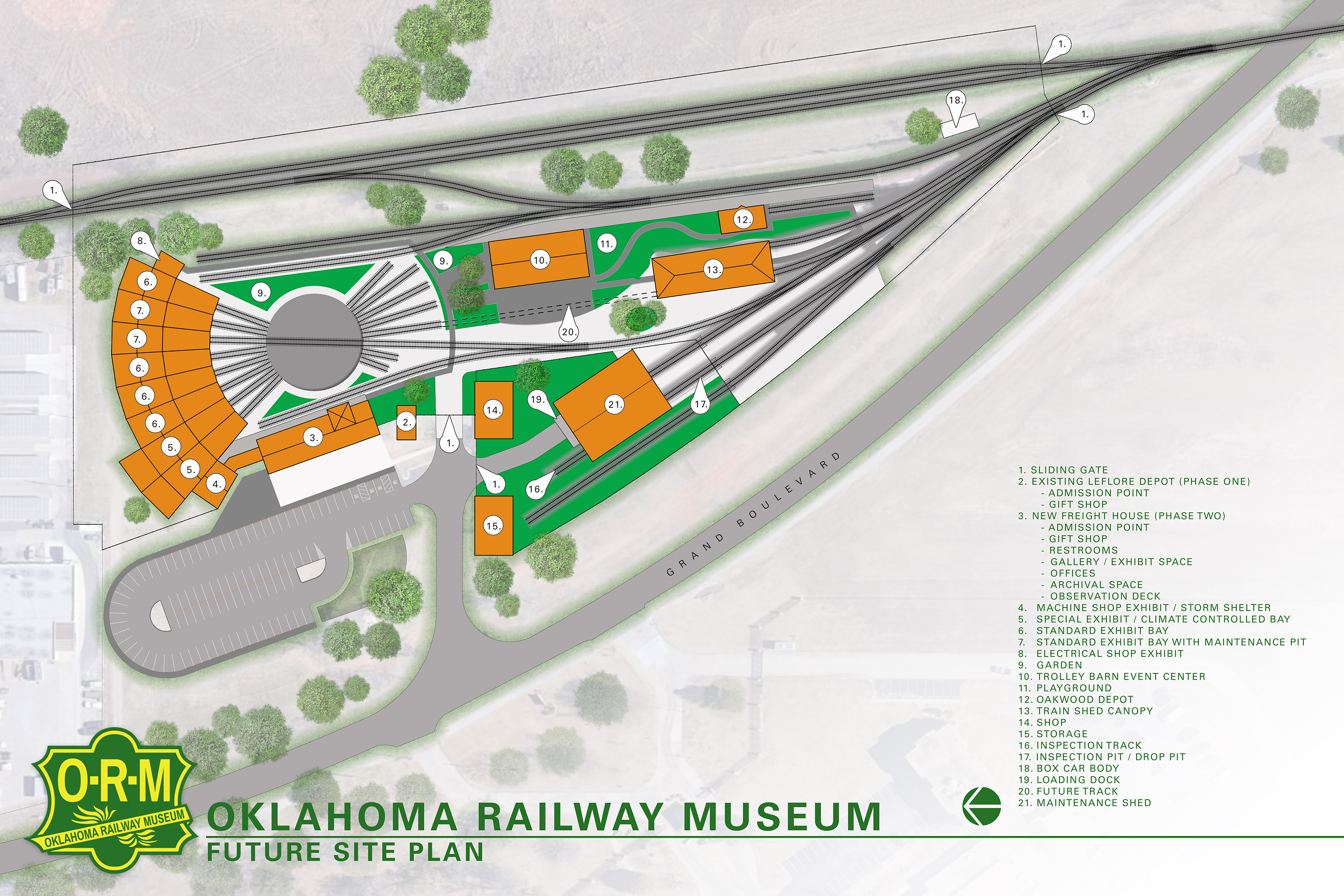 Museum Expansion Project - Oklahoma Railway Museum on ho scale roundhouse plans, walthers track plans, 4x8 ho track plans, engine facility track plans, track and roundhouse steam engine plans, n scale roundhouse plans, o gauge roundhouse plans, railroad turntable construction plans, model railroad roundhouse plans,